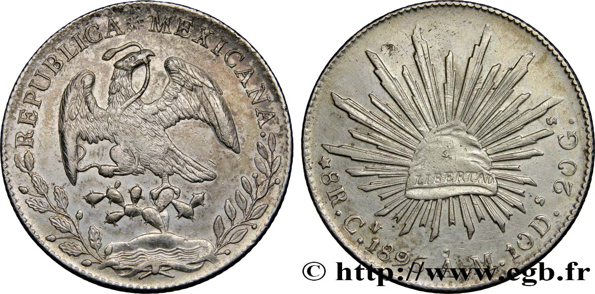 MEXIQUE 8 Reales 1895 Culiacan SUP