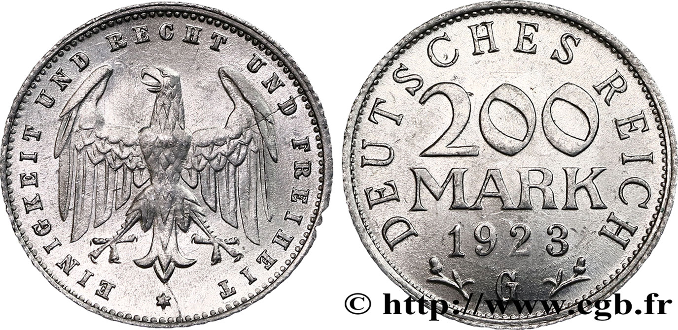 ALLEMAGNE 200 Mark aigle 1923 Karlsruhe - G SUP