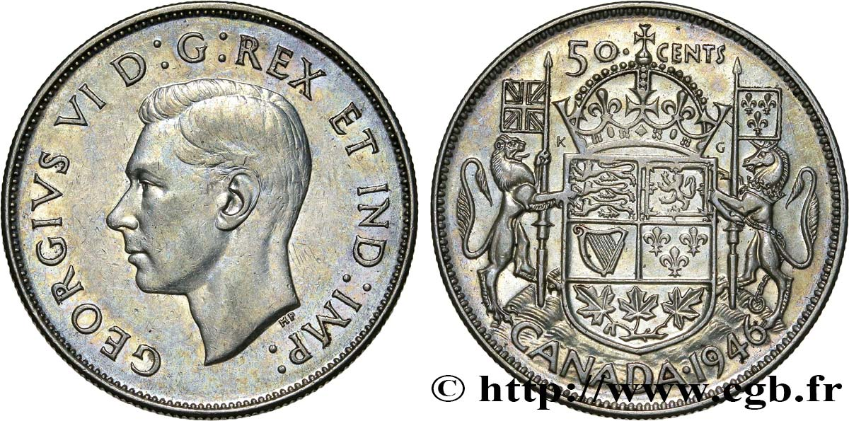 CANADA 50 Cents Georges VI 1946  SUP