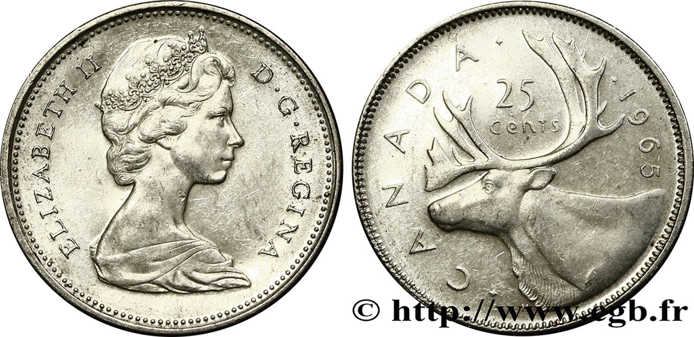CANADA 25 Cents 1965  SPL