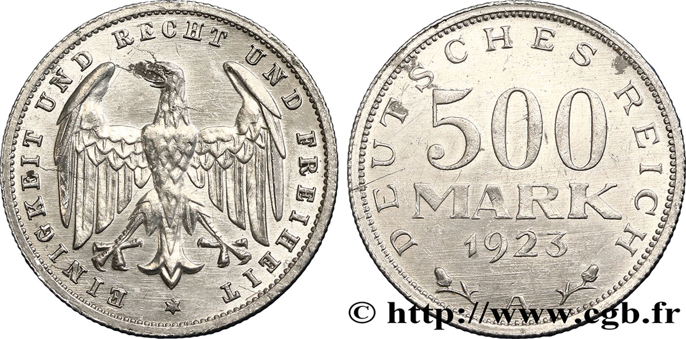 ALLEMAGNE 500 Mark aigle 1923 Berlin SUP