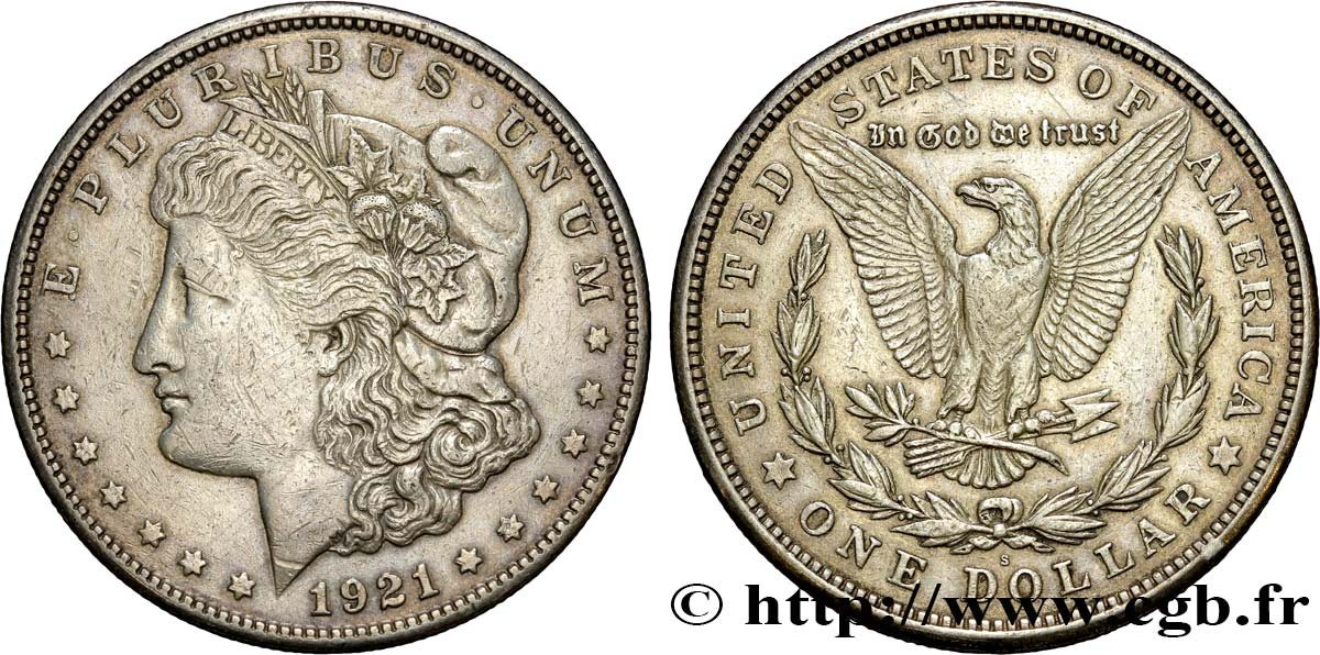ÉTATS-UNIS D AMÉRIQUE 1 Dollar type Morgan 1921 San Francisco TTB