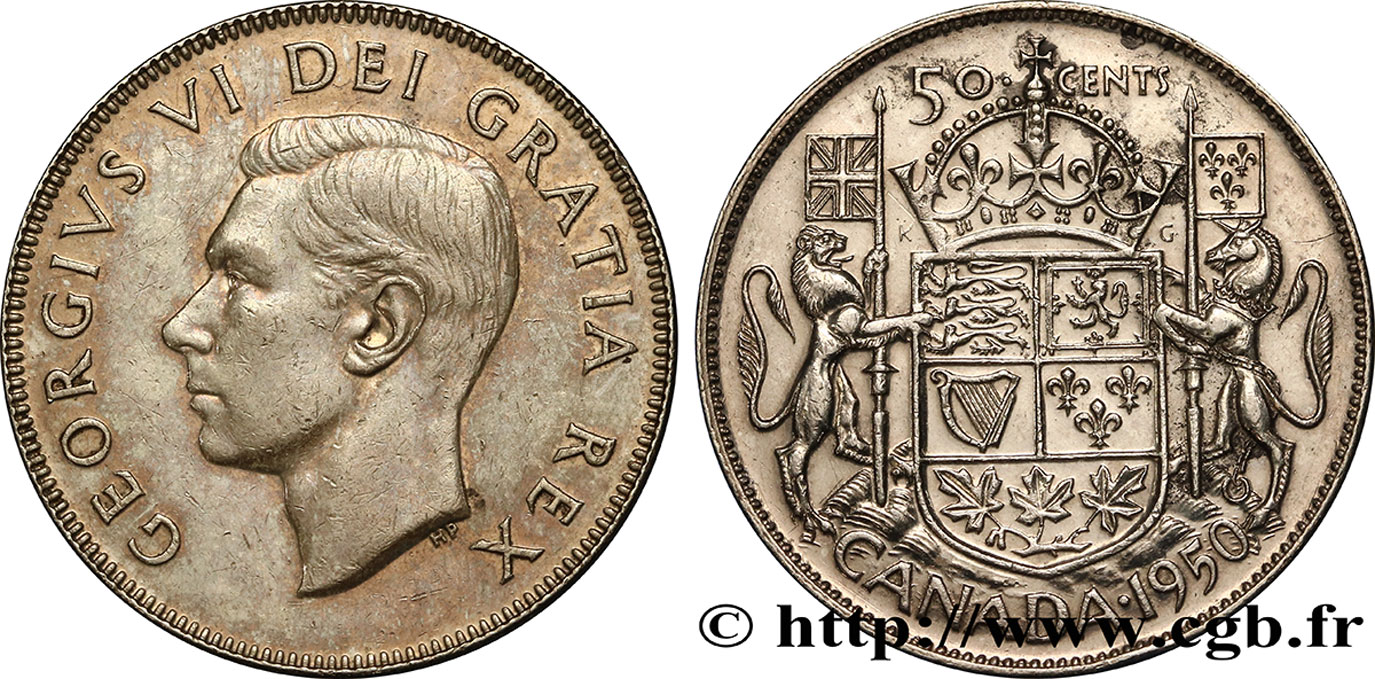 CANADA 50 Cents Georges VI 1950  SUP