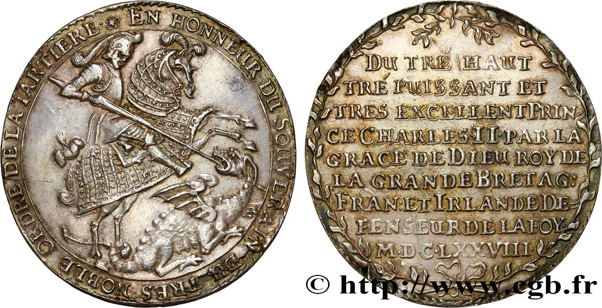 ALLEMAGNE - SAXE Thaler Jean-Georges II 1678  TTB+