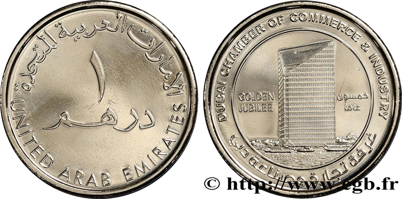 Mirats arabes unis 1 dirham jubil d or de la chambre de for Chambre de commerce dubai