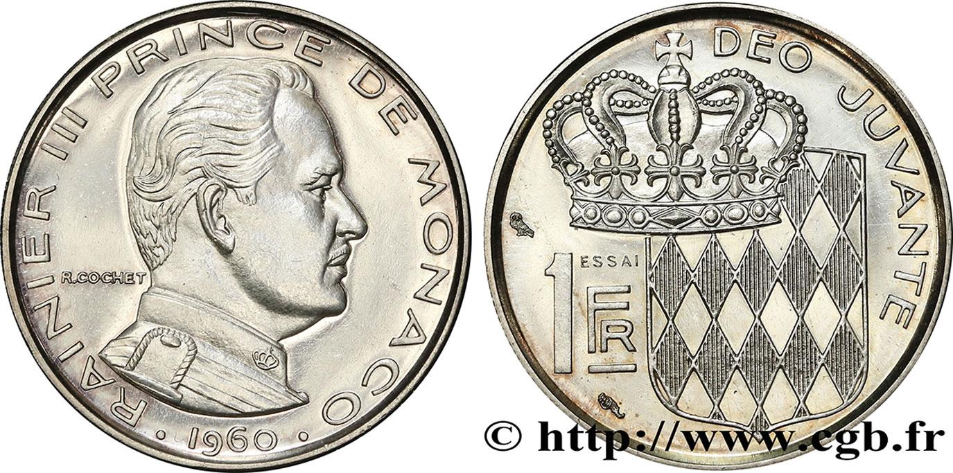 Monaco Principality Of Monaco Rainier Iii Essai De 1 Franc