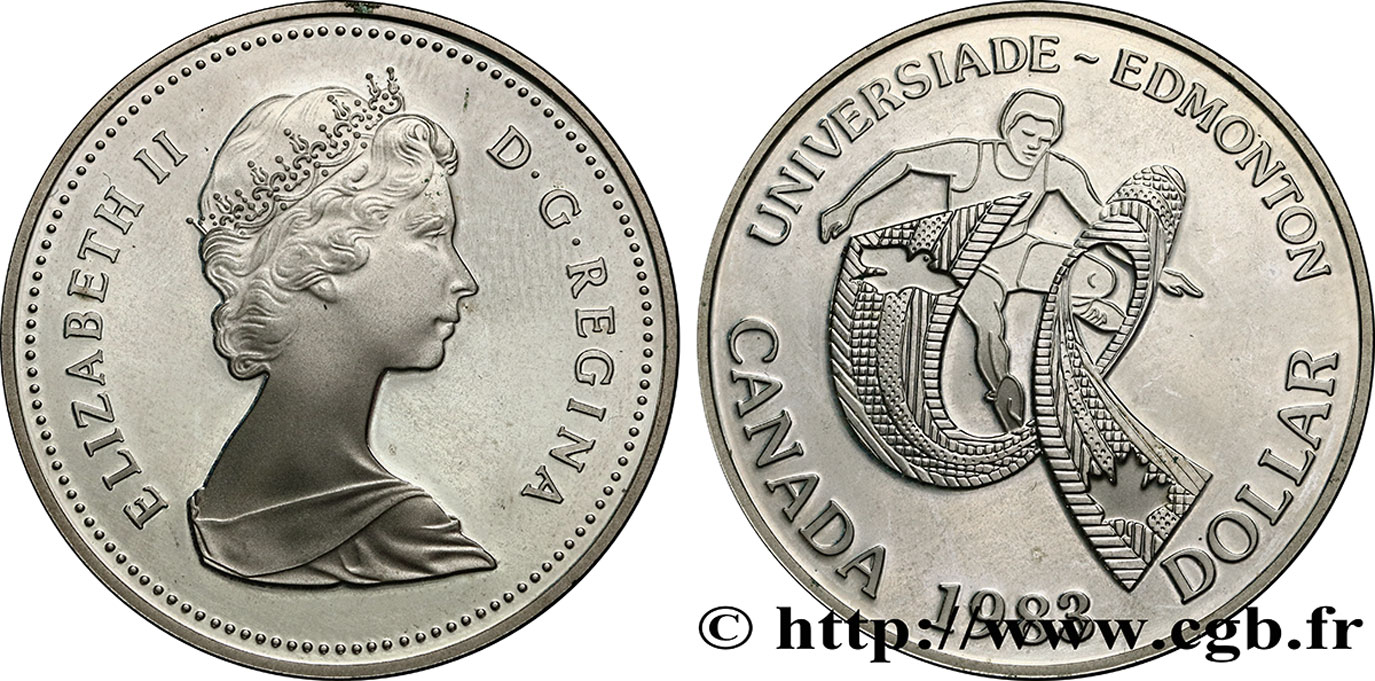 CANADA 1 Dollar Proof jeux universitaires d'Edmonton 1983  SPL