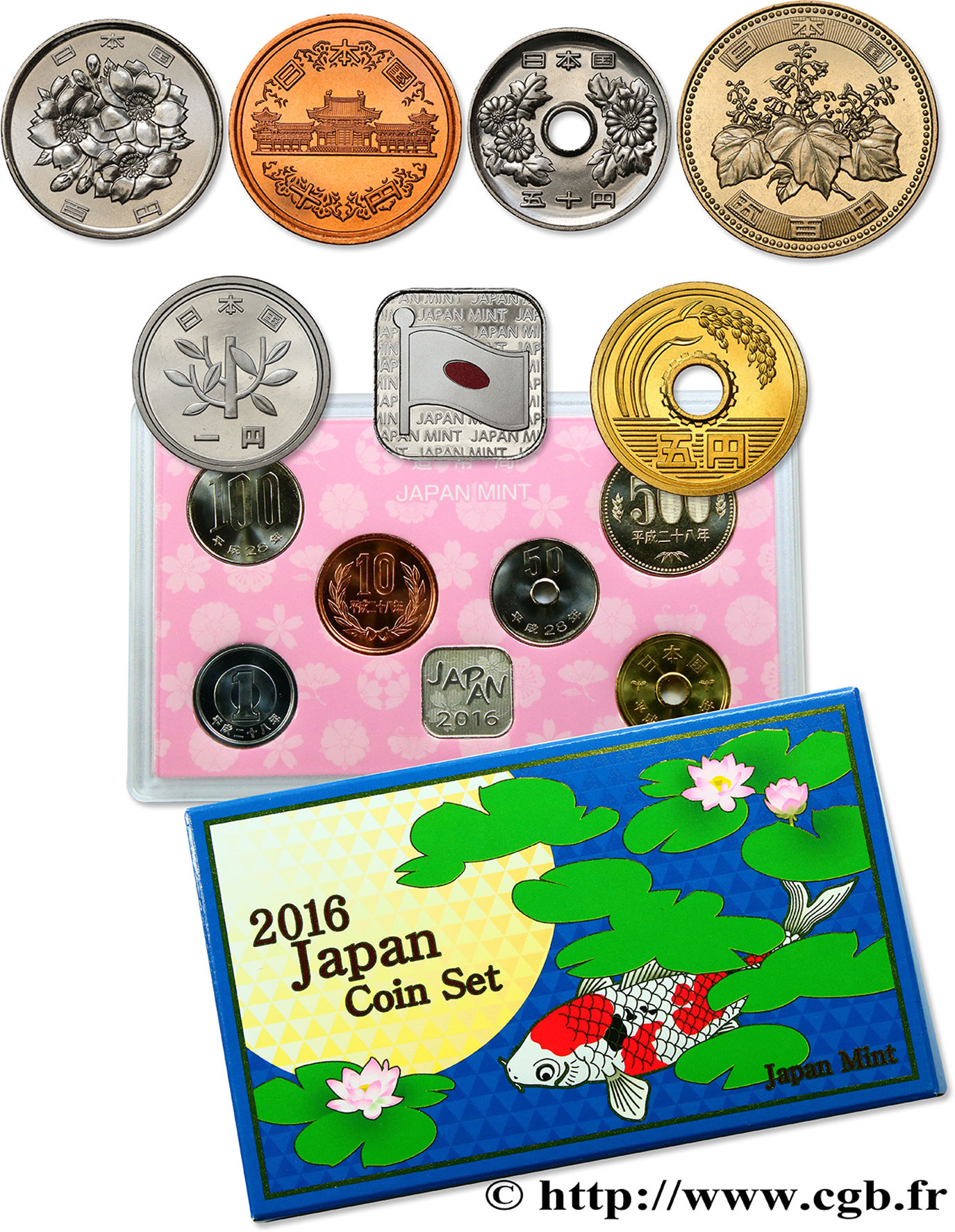 JAPON Coin set 2016 2016  FDC