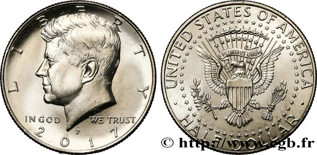 UNITED STATES OF AMERICA 1/2 Dollar Kennedy 2017 Philadelphie - P MS