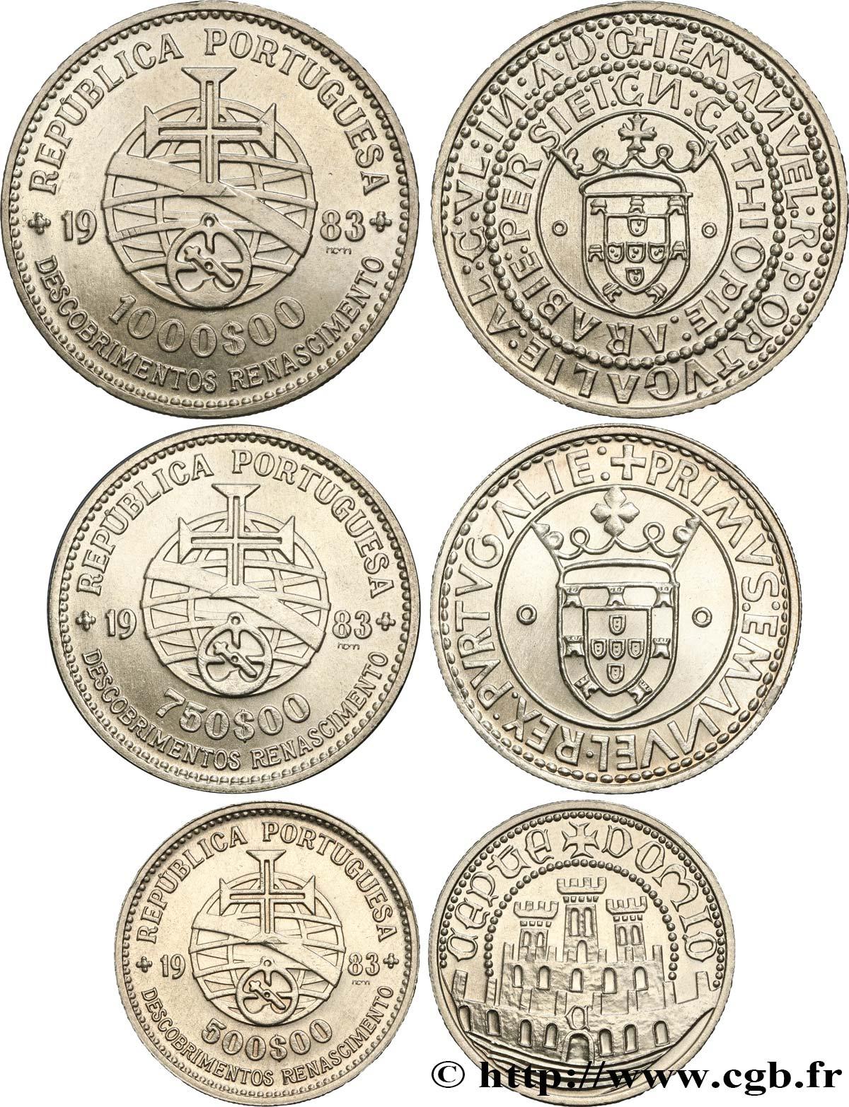 Lot De 1000 Etiquettes Prix Ficelle Blanche 3 Tailles: PORTUGAL Lot De Trois Monnaies 500, 750 Et 1000 Escudos