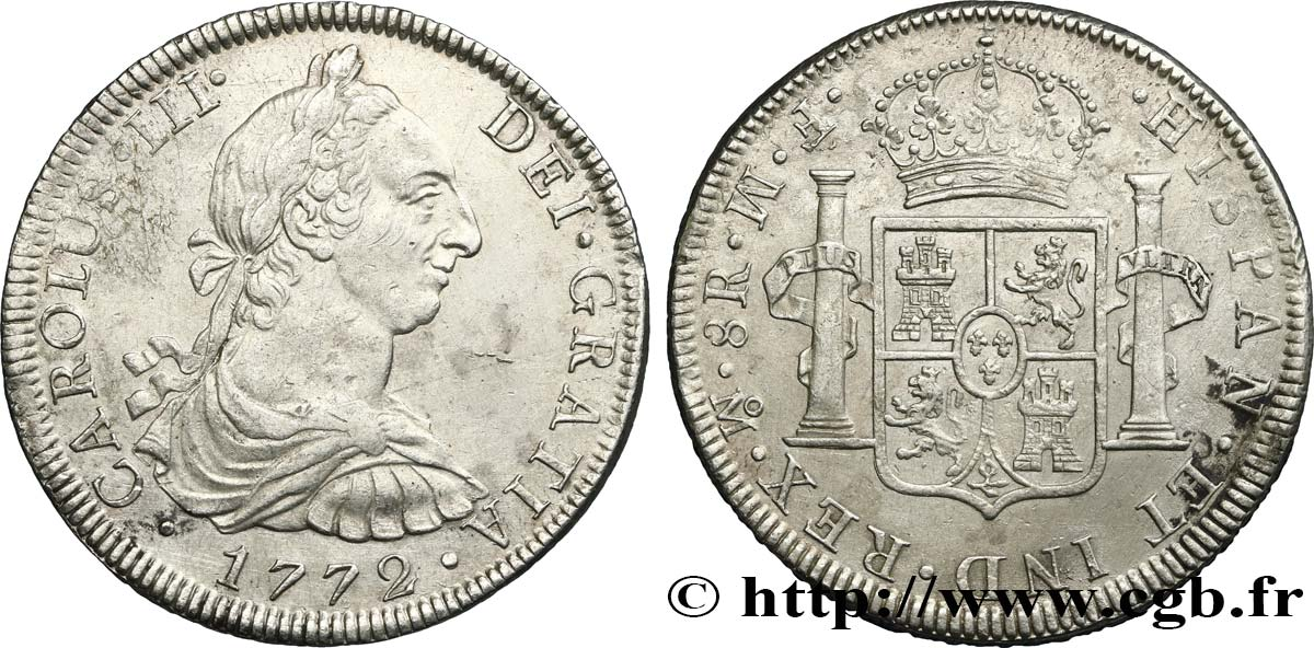 MEXIQUE 8 Reales Charles III 1772 Mexico TTB+