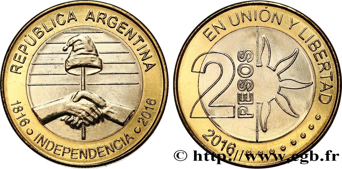 Argentina 2 Pesos Bicentaire De Lindpendance 2016 Fwo437659 World