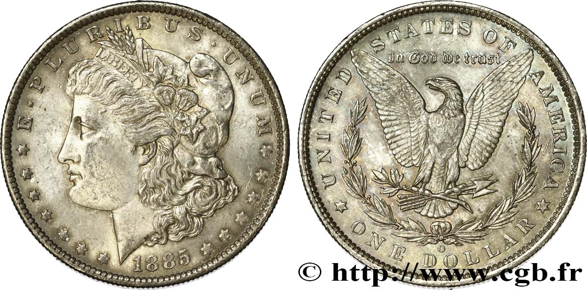 UNITED STATES OF AMERICA 1 Dollar Morgan 1885 Nouvelle-Orléans MS