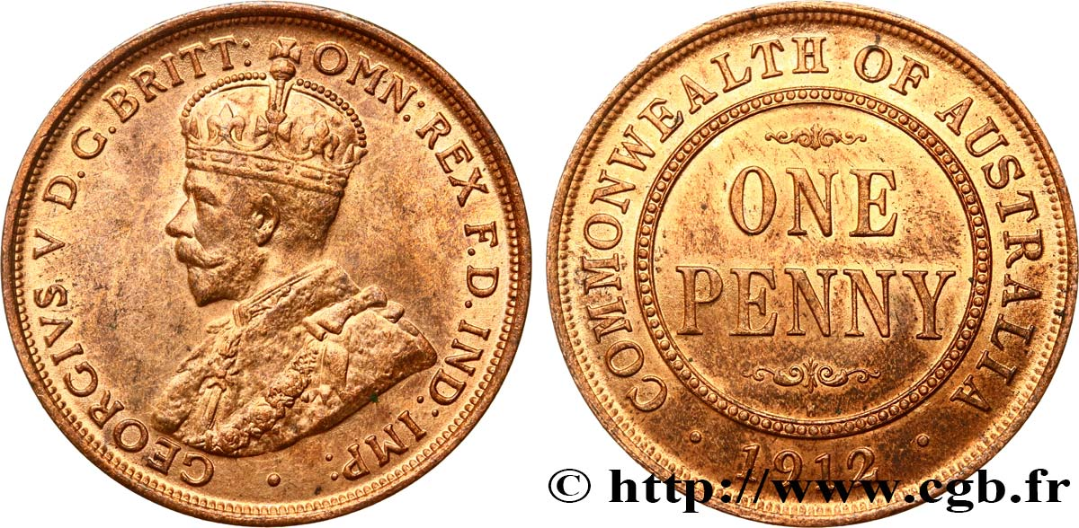 AUSTRALIE 1 Penny Georges V 1912 Heaton SPL