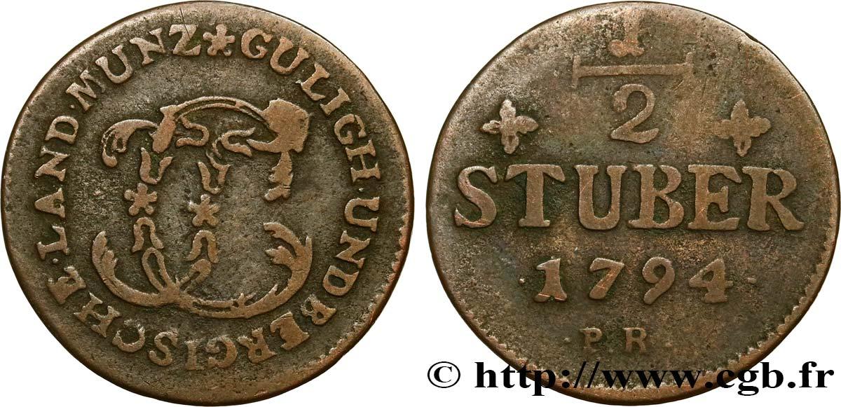 Afbeeldingsresultaat voor 1/2 Stuber ( Jülich-Berg ) 1794