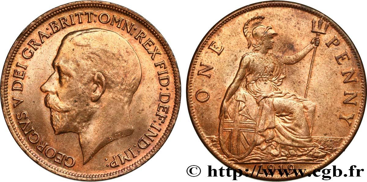 united kingdom 1 penny georges v 1919 fwo 475130 world coins