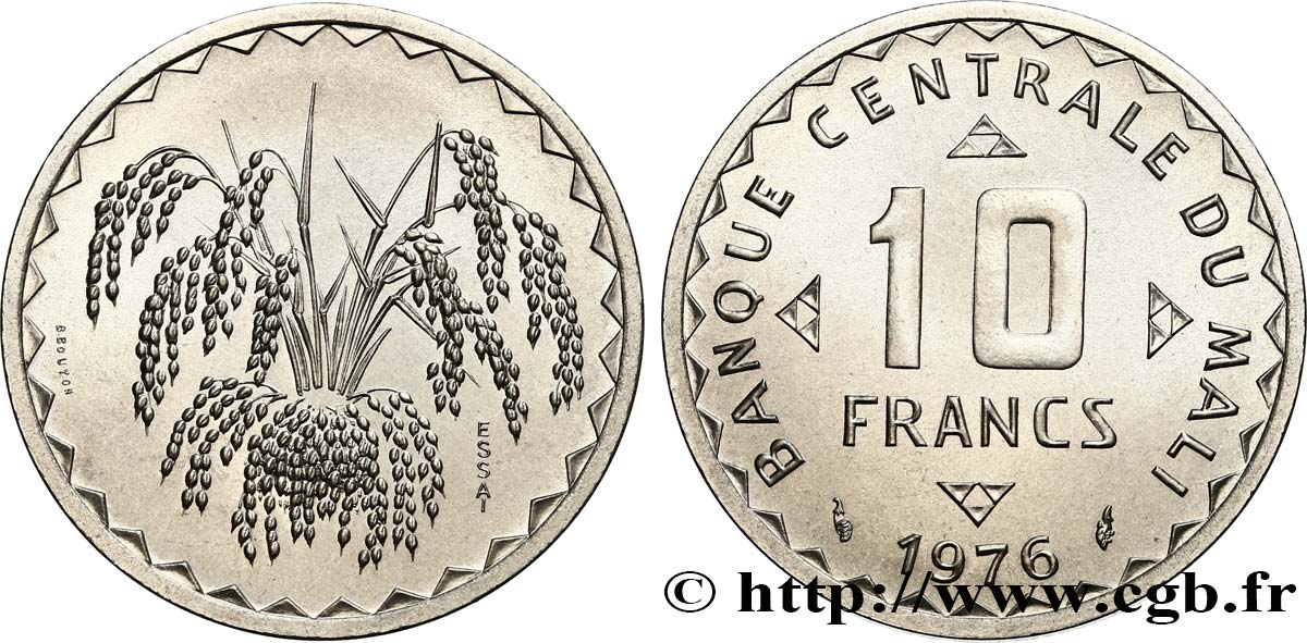 MALI Essai de 10 Francs 1976 Paris MS