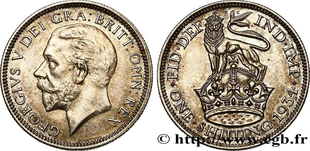UNITED KINGDOM 1 Shilling Georges V 1934  AU