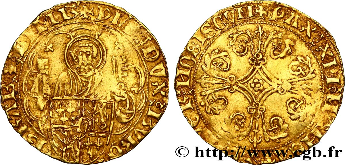 BRABANT - DUCHY OF BRABANT - PHILIP THE GOOD Pieter d or ou gouden peter n.d. Zevenbergen VF/XF