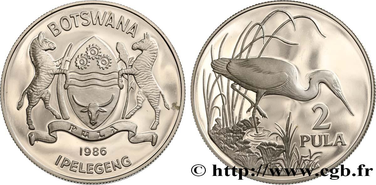 BOTSWANA (REPUBLIC OF) 2 Pula aigrette 1986