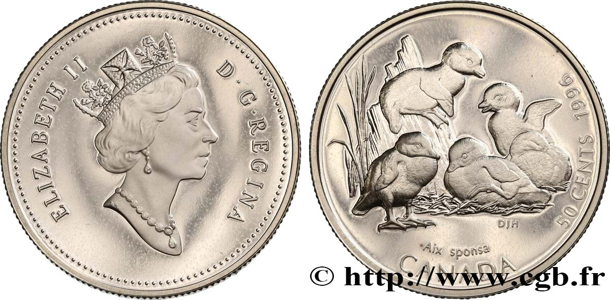 CANADA 50 Cents proof canards branchus 1996