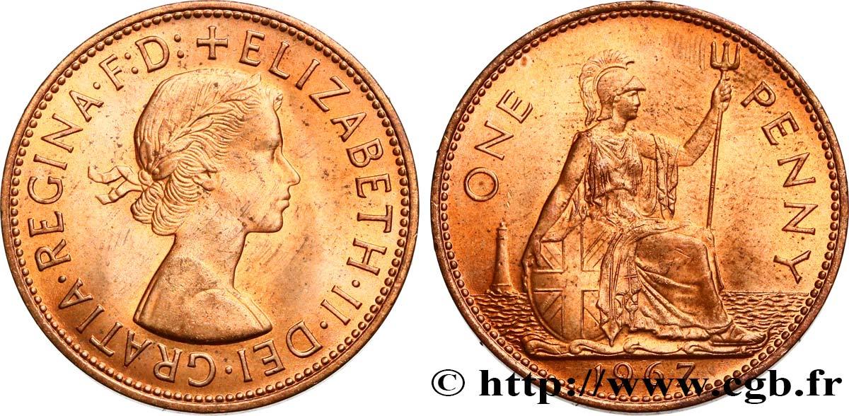 UNITED KINGDOM 1 Penny Elisabeth II 1967 fwo_513068 World coins