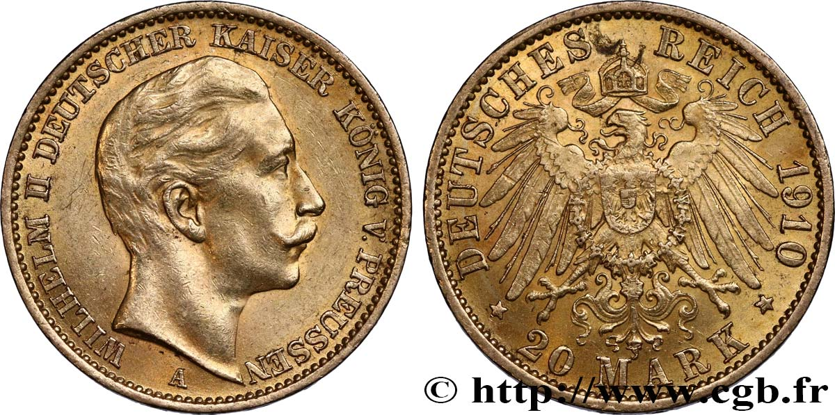 OR D INVESTISSEMENT 20 Mark Guillaume II 1910 Berlin SUP