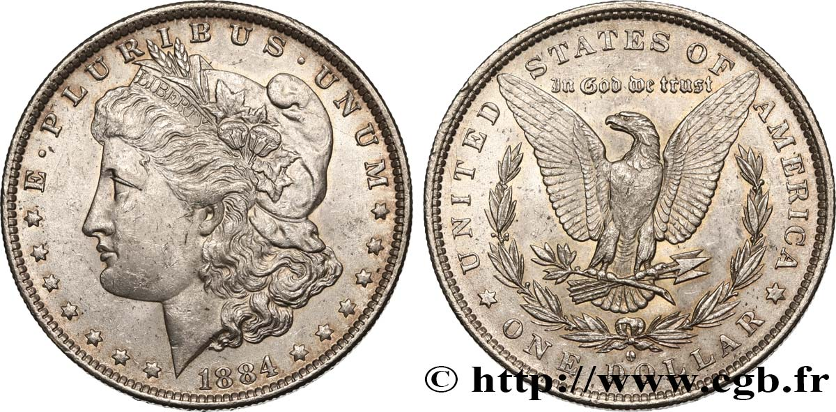 UNITED STATES OF AMERICA 1 Dollar Morgan 1884 Nouvelle-Orléans MS