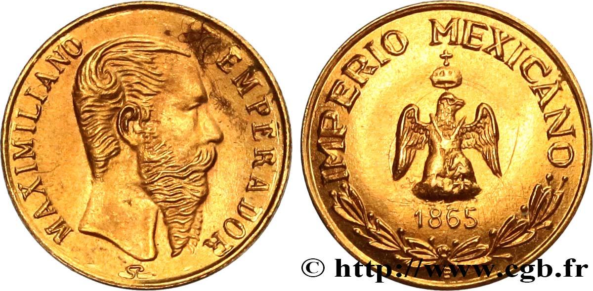 1865 Emperador Maximiliano coin