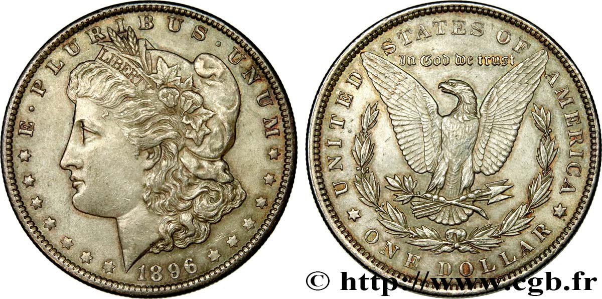 UNITED STATES OF AMERICA 1 Dollar Morgan 1896 Philadelphie MS