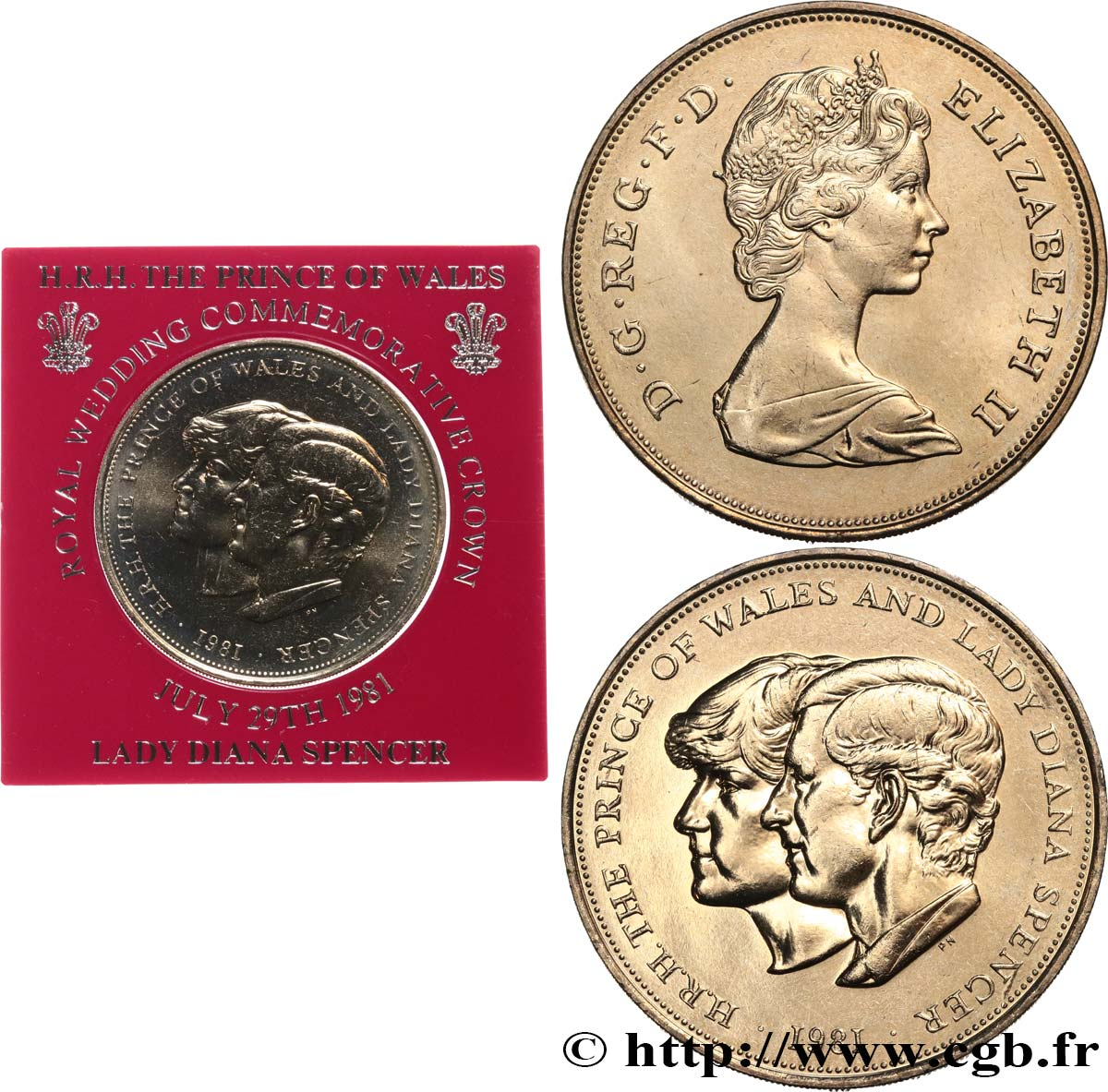 United Kingdom 25 New Pence 1 Crown Mariage Du Prince De Galles Et De Lady Diana Spencer 1981 Fwo 534405 World Coins
