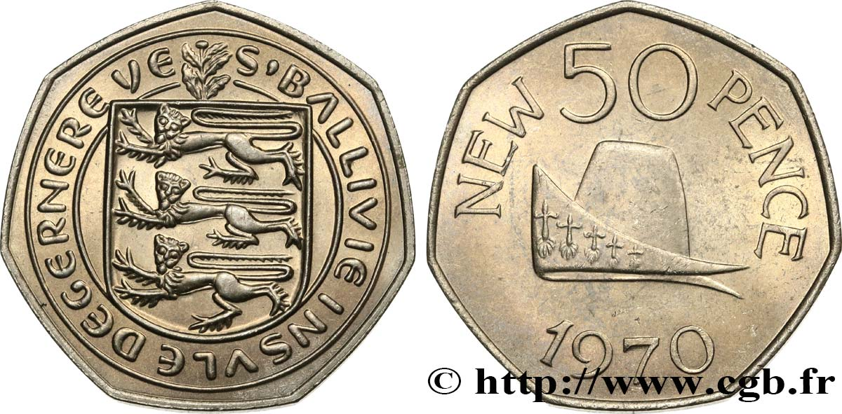 GUERNSEY 50 New Pence 1970  MS