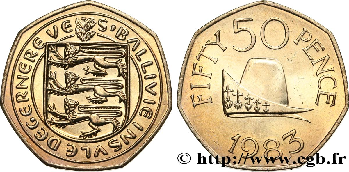 GUERNSEY 50 Pence 1983  MS