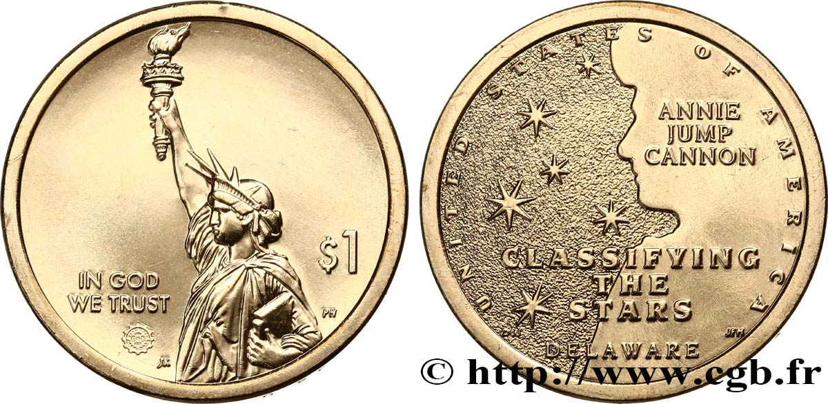 UNITED STATES OF AMERICA 1 Dollar American Innovation Classification des étoiles (Delaware) 2019 Denver MS