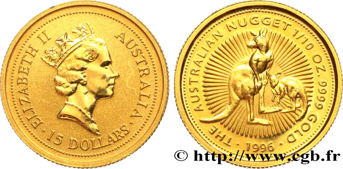 AUSTRALIE 15 Dollars (1/10 Once) Proof Elisabeth II 1996  SPL