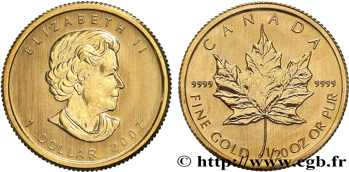 CANADA 1 Dollar or  Maple leaf  2007  SPL