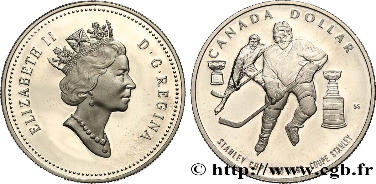 1993 Canada Silver Proof Dollar Coupe Stanley