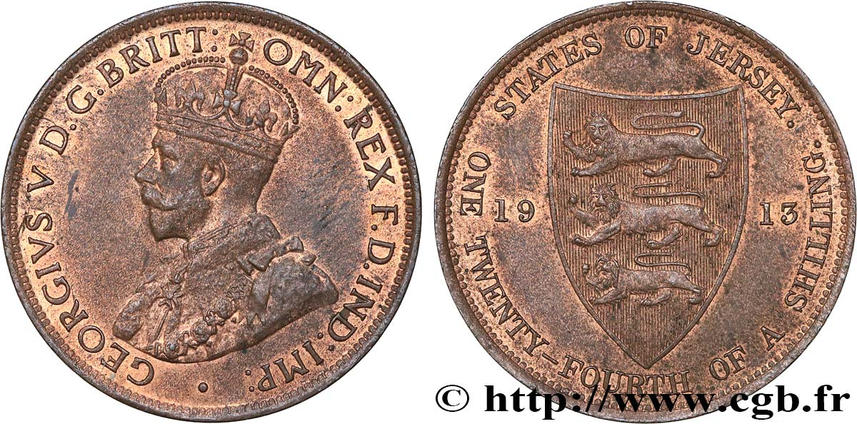JERSEY 1/24 Shilling Georges V 1913  SUP