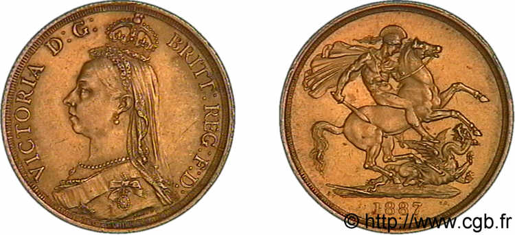 GRANDE BRETAGNE - VICTORIA Two pounds (2 livres),  Jubilee head  1887 Londres SUP