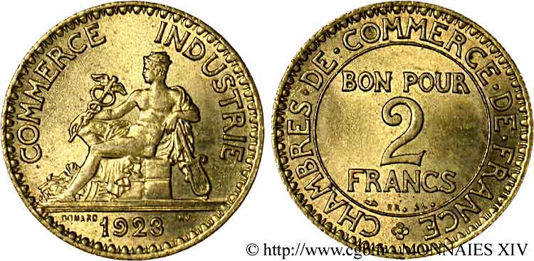 2 francs chambres de commerce 1923 paris v14 1151 for Chambre de commerce de france bon pour 2 francs