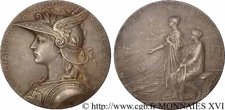 BANQUE DE FRANCE Médaille AR 68, centenaire de la Banque de France
