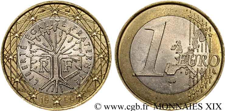 Europäische Zentralbank 1 Euro France Frappe Monnaie 1999 Pessac