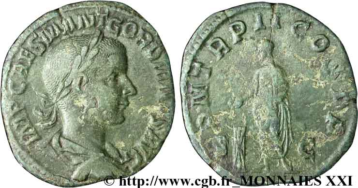GORDIEN III Sesterce, (GB, Æ 31) TTB