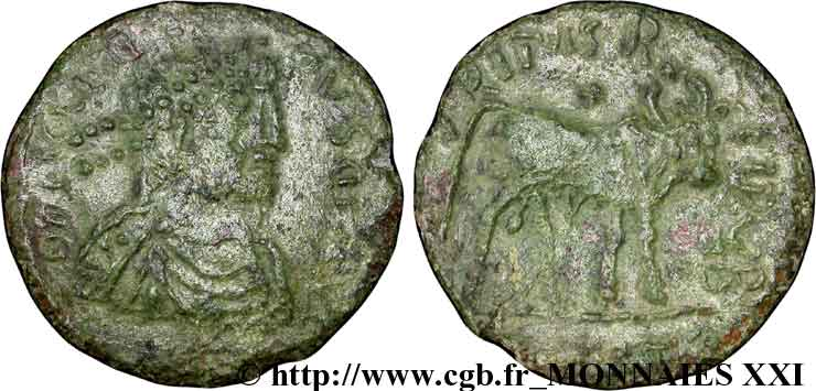 JULIEN II LE PHILOSOPHE Double maiorina imitation, (GB, Æ 1) TTB