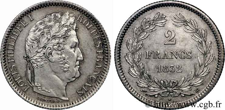 2 francs Louis-Philippe 1832 Strasbourg F.260/6 SUP
