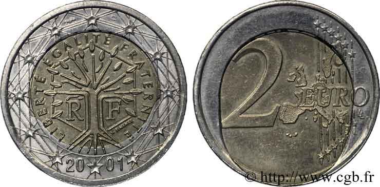 Europäische Zentralbank 2 Euro France Fautée 2001 Pessac V242491