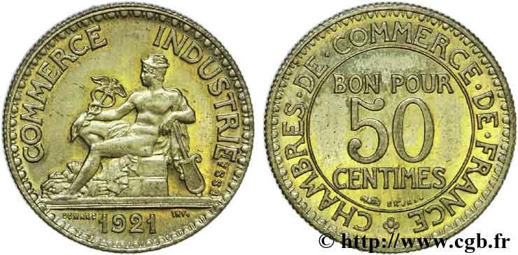Essai de 50 centimes chambres de commerce 1921 paris f for Chambre commerce industrie paris
