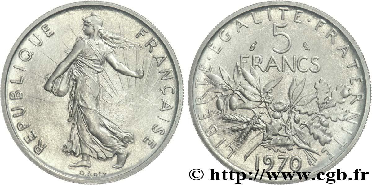 piece de monnaie 5 francs 1970