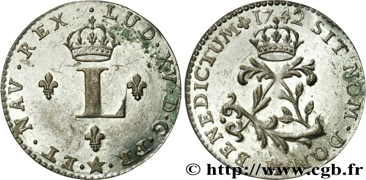 Louis xv dit le bien aim faux double sol de billon improprement class comme - Sol en piece de monnaie ...