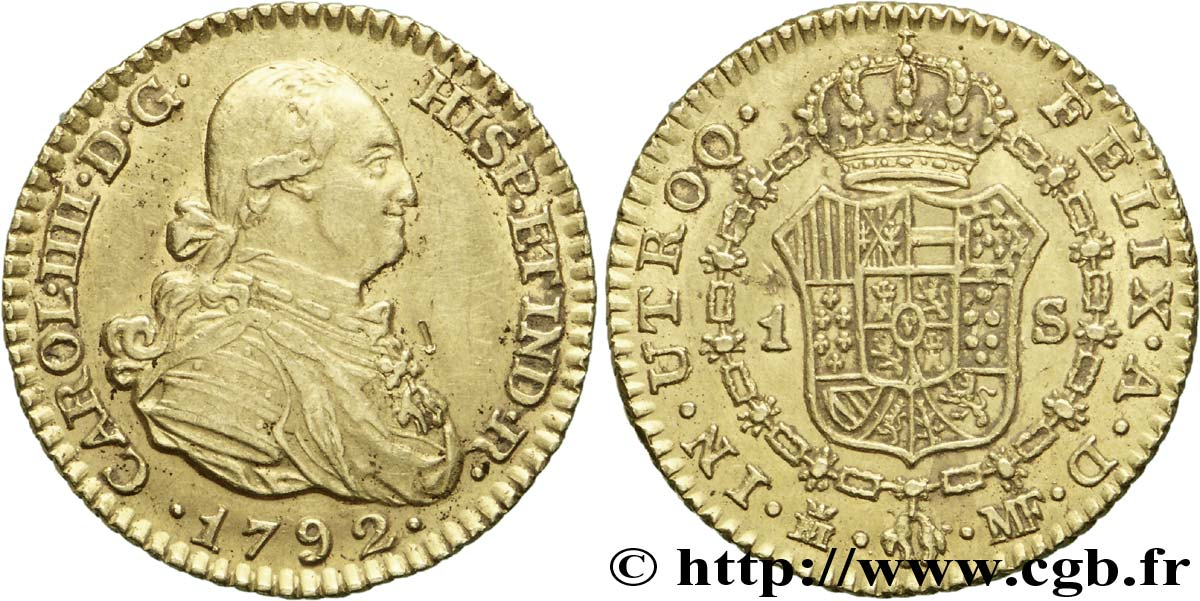 Afbeeldingsresultaat voor 1 escudo 1792 MF cgb